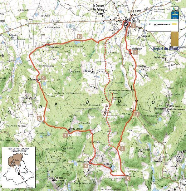 Topo guide sentier des villages en Pays d'oc