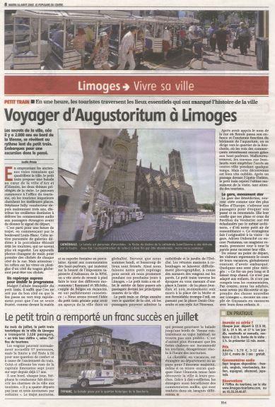 Découvrez Limoges en petit train